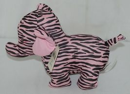 Baby Ganz Brand BG3192 Pink Black Zebra Print Ooh La La Plush Elephant image 5