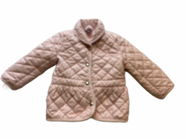 ralph lauren toddler quilted pale pink jacket 24m pony logo - $19.79