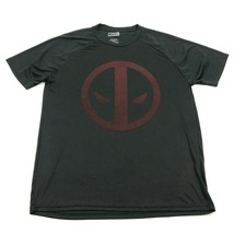 NEW MARVEL Deadpool Shirt Dry Fit Size XL Extra Large Men Black Short Sl... - $16.88