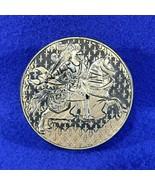 Vintage Gold & Black Knight On Horse SCOTCH TAPE HOLDER DISPENSER West G... - $6.50