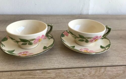 Set 6 Franciscan Desert Rose Tea Cups and Saucers Made in USA image 6