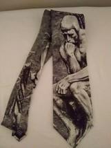 """VTG Ralph Marlin Tie Vintage Necktie Neck Tie THE THINKER 1992 59"""" x 4"""" ... - $9.85"""