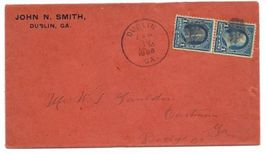 1898 Dublin GA Vintage Post Office Postal Cover - $9.95