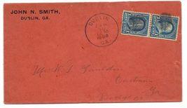 1898 Dublin GA Vintage Post Office Postal Cover - $9.95