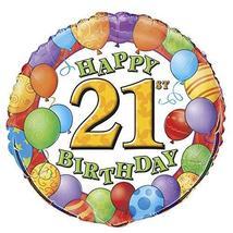 """18"""" Foil 21st Birthday Balloon - $6.85"""
