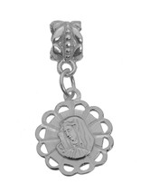 Immaculate Virgin Mary Mother of Jesus Sterling Silver 925 Charm bead Jewelry - $20.08