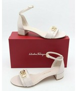 NIB Salvatore Ferragamo Como Gancini Bit Patent Leather Sandals 10 40 $6... - $325.00