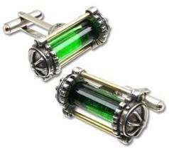 SteamPunk Cosplay Gothic Victorian Miasmatic Reactor Core Pewter Cufflin... - $48.37