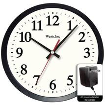 Westclox 32189A-DS 14 Round Electric Powered Office Wall Clock - $42.37