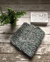 Handmade Dishcloth Set of 3 Kitchen Crochet Cotton Dish Cloths Purple Gr... - $18.75
