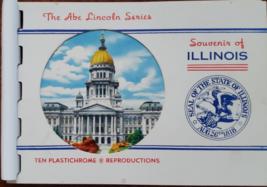 Illinois, Abe Lincon Series. A Miniature Album, 10 Plastichrome Reproduc... - $7.95