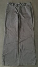 Calvin Klein Pants Size 6 Dark Gray Riley Fit Casual Khakis Trousers Slacks - $12.37