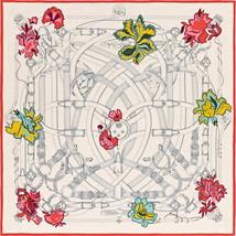 Hermes Carre 140 Shawl Scarf Stole Cavalcadour Fleuri Henri d'Origny New Unused - $1,368.78
