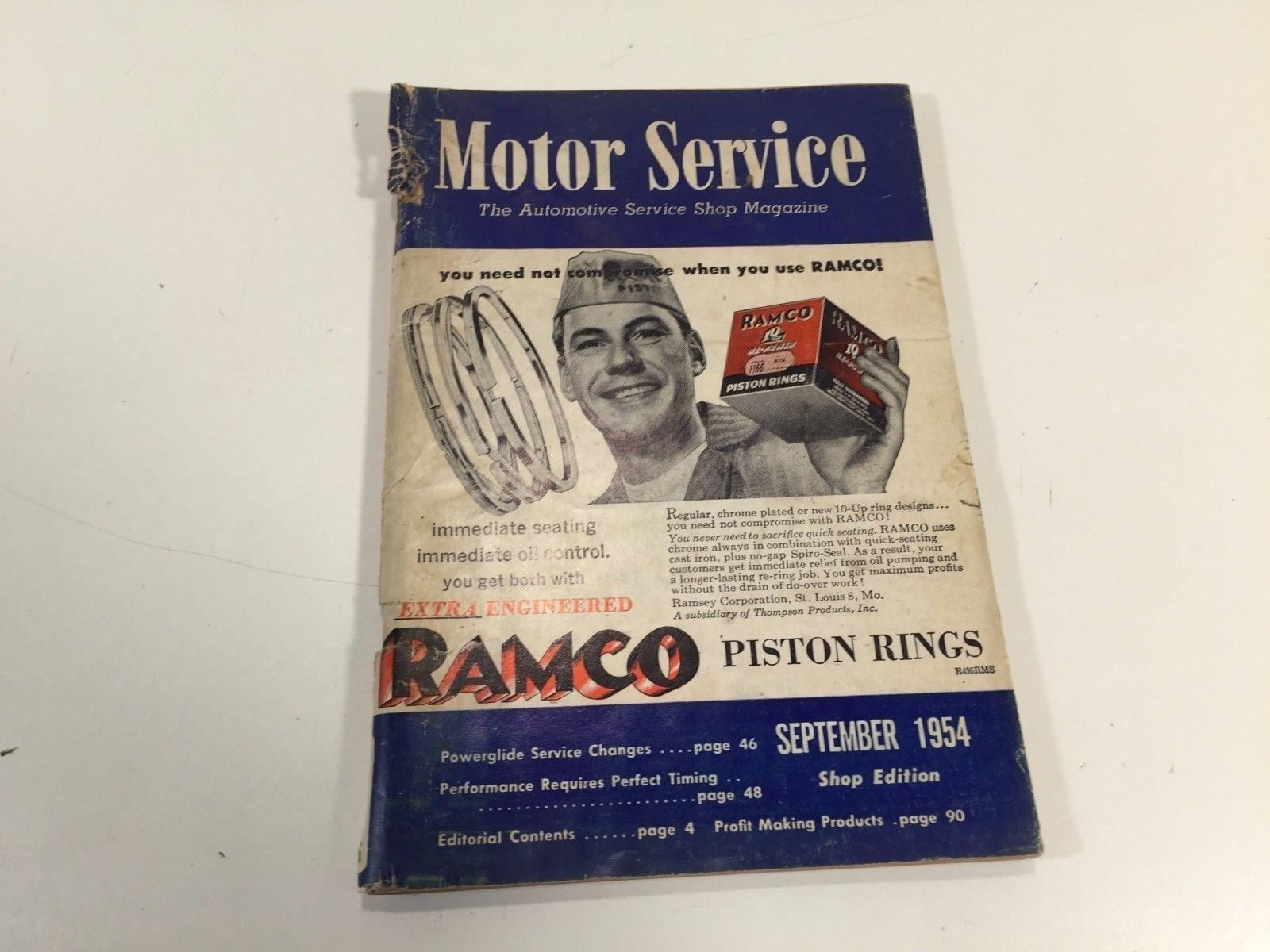 Motor Service Automotive Shop Magazine September 1954