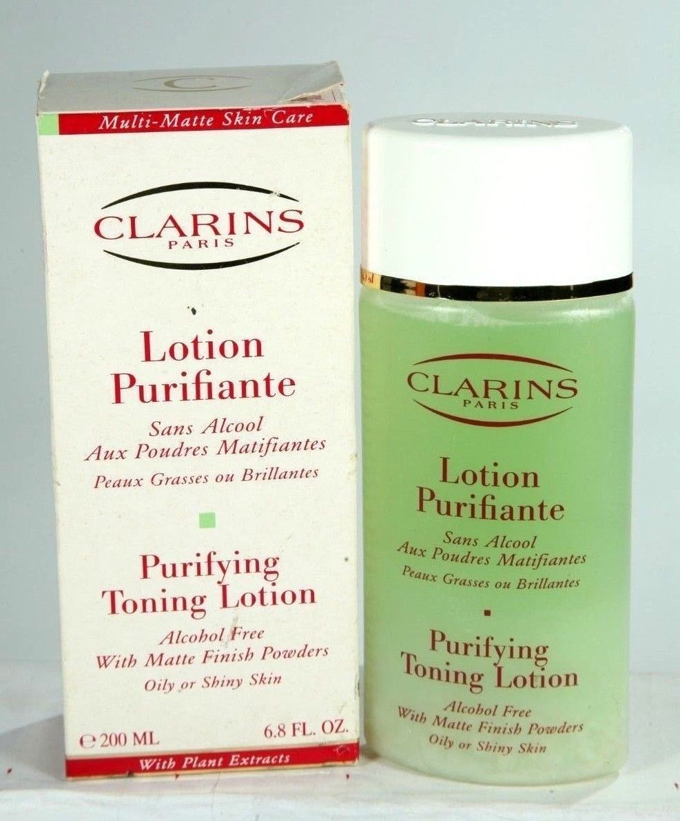 New Clarins Purifying Toning Lotion Matte Powders Finish Oily/Shiny Skin 6.8 oz - $19.24