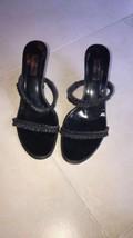 EUC GUCCI Black Open Toe Strappy Sandal Heel Sandal SZ 9B 4'' Heel Made in Italy - $157.41