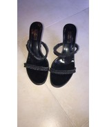 EUC GUCCI Black Open Toe Strappy Sandal Heel Sandal SZ 9B 4'' Heel Made ... - $157.41