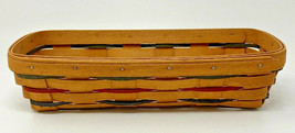 Longaberger 1995 Small Rectangular Bread 23440 Basket 11 3/8 x 5 x 3 (19... - $23.70