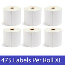 "XL Direct Thermal Zebra 4 x 6 Labels 1"" Core 475 Labels Per Roll - Choose QTY - $18.61+"