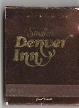 Vintage Strike on Matchbook of Stouffer's Denver Inn Colorado - $9.89