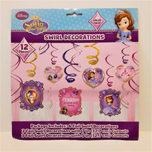 New Disney Sofia the First Birthday Party Supplies Swirl Hanging Decorations NIP - $9.99