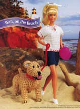 "5X Barbie 11-1/2"" Doll Beach Aerobics Exercise Time Andy The Dog Crochet Pattern image 2"