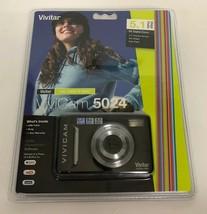 NEW Vivitar Vivicam 5024 8X Digital Zoom 5.1 Mega Pixels Auto Flash Sealed - $22.76
