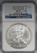 2013 Silver Eagle NGC MS70 Early Releases AJ741 - $56.99