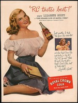 Vintage magazine ad ROYAL CROWN COLA from 1946 with Lizabeth Scott Martha Ivers - $13.49