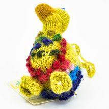 Handknit Alpaca Wool Whimsical Hanging Duck Bird Ornament Handmade in Peru image 4