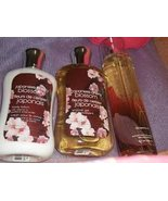 Japanese Cherry Blossom Shower Gel/Body Lotion/Fragrance Mist - $49.45