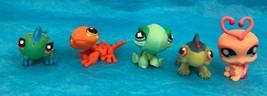 Littlest Pet Shop Lot Of 5 Figures Turtle Gecko Ladybug Collectibles - $9.14
