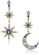 Betsey Johnson Women's Moon and Star Drop Earrings (One Size|BLUE) - $54.00