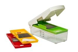 Nuts Fruits Vegetable Chopper Dicer Slicer Fast Press Gadget w/ Storage ... - $43.01