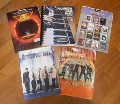 Progressive Class Piano Sheet Music Lot NSYNC Aerosmith Backstreet Boys ... - $39.60