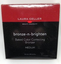 Laura Geller Bronze-N-Brighten Baked Color Correcting Bronzer Medium 0.85OZ Nib - $17.60