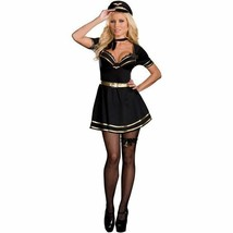 FRENCH MILE HIGH CAPTAIN MISS FIFI LOVE HALLOWEEN COSTUME ADULT SIZE MEDIUM - $42.55