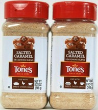 (2) Tone's Salted Caramel Seasoning Blend Use With Sweets Chicken Drinks 8.75 Oz - $17.81