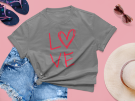 Love Block Heart Shirt.  Great Valentine's Gift for Her - $14.99+