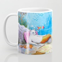 Coffee Mug Cup 11oz or 15oz Made in USA Cat Mermaid 31 sea turtle art L.... - $19.99+