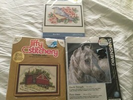 Cross Stitch Needlepoint crewel embroidery kit Lot Dimensions Sunset Buc... - $14.01