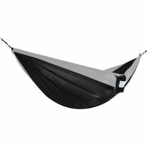 Vivere Double Parachute Hammock - Black/Grey - $73.15