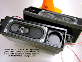 """Dynex 40"""" DX-40L261A12 Speakers Jiefu VIT411-05L & 05R 8 Ohms 10 Watts - $14.00"""