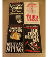 Lot of 5 Lawrence Sanders PB 1st & 3rd Deadly Sin; Sullivan's; 6th Comm;... - $15.83
