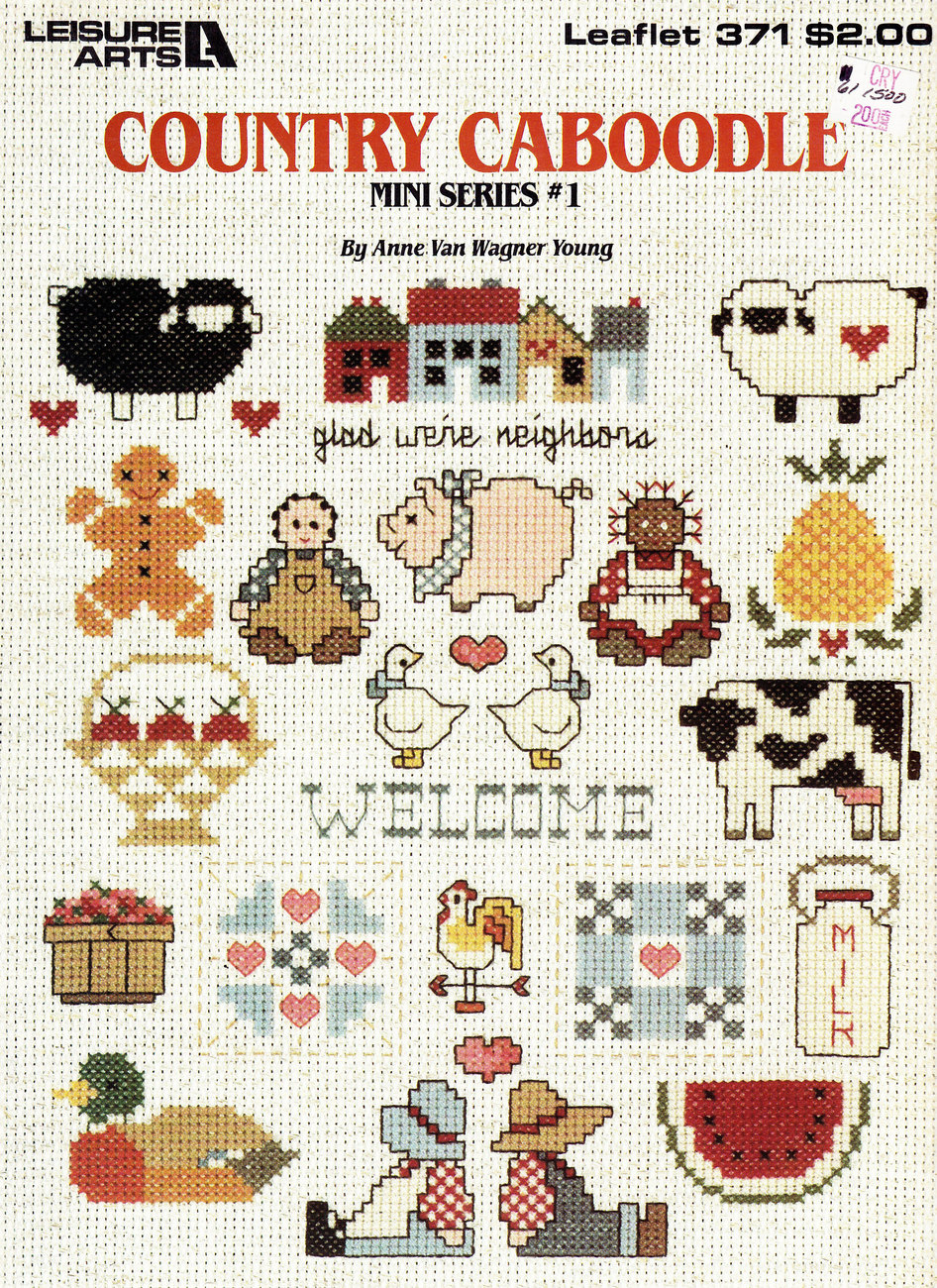 COUNTED CROSS STITCH COUNTRY CABOODLE MINI SERIES #1 LEAFLET