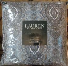 3 pc Ralph Lauren Blue, Gray, Tan Medallion QUEEN Comforter + Shams Fast... - $148.45