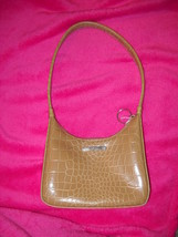 Nine West Beige Snakeskin Faux Purse - $8.99