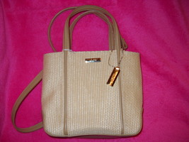 Nine West Shoulder Bag / Tan / Cream - $19.99