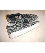 Nike Air Force 1 O7 LV8 JDI Black White Just Do It Motif Sneaker Size 10.5 - $98.01