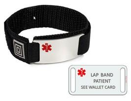 LAP BAND PATIENT Sport Medical Alert ID Bracelet. Free medical Emergency Card! image 1